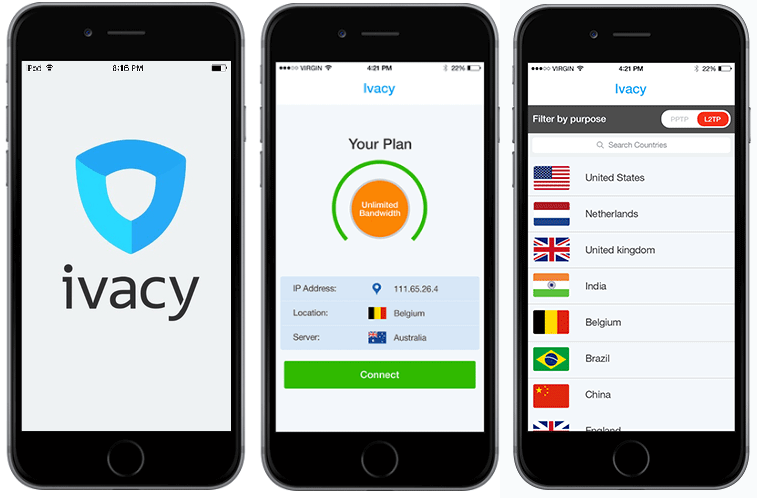 best vpn for iphone - ivacy app