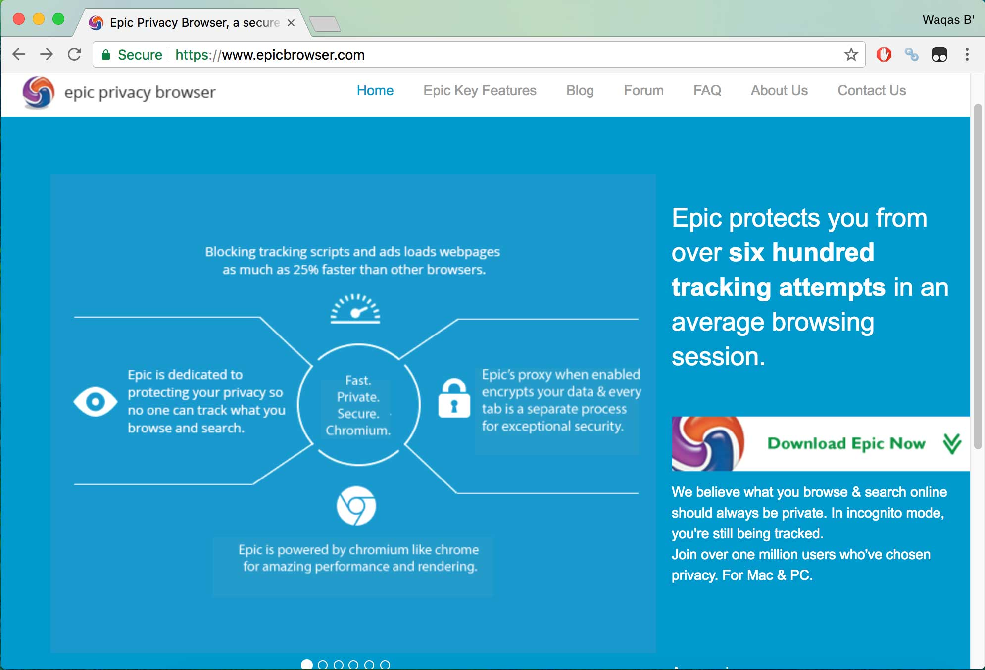 Epic browser - best secure browsers