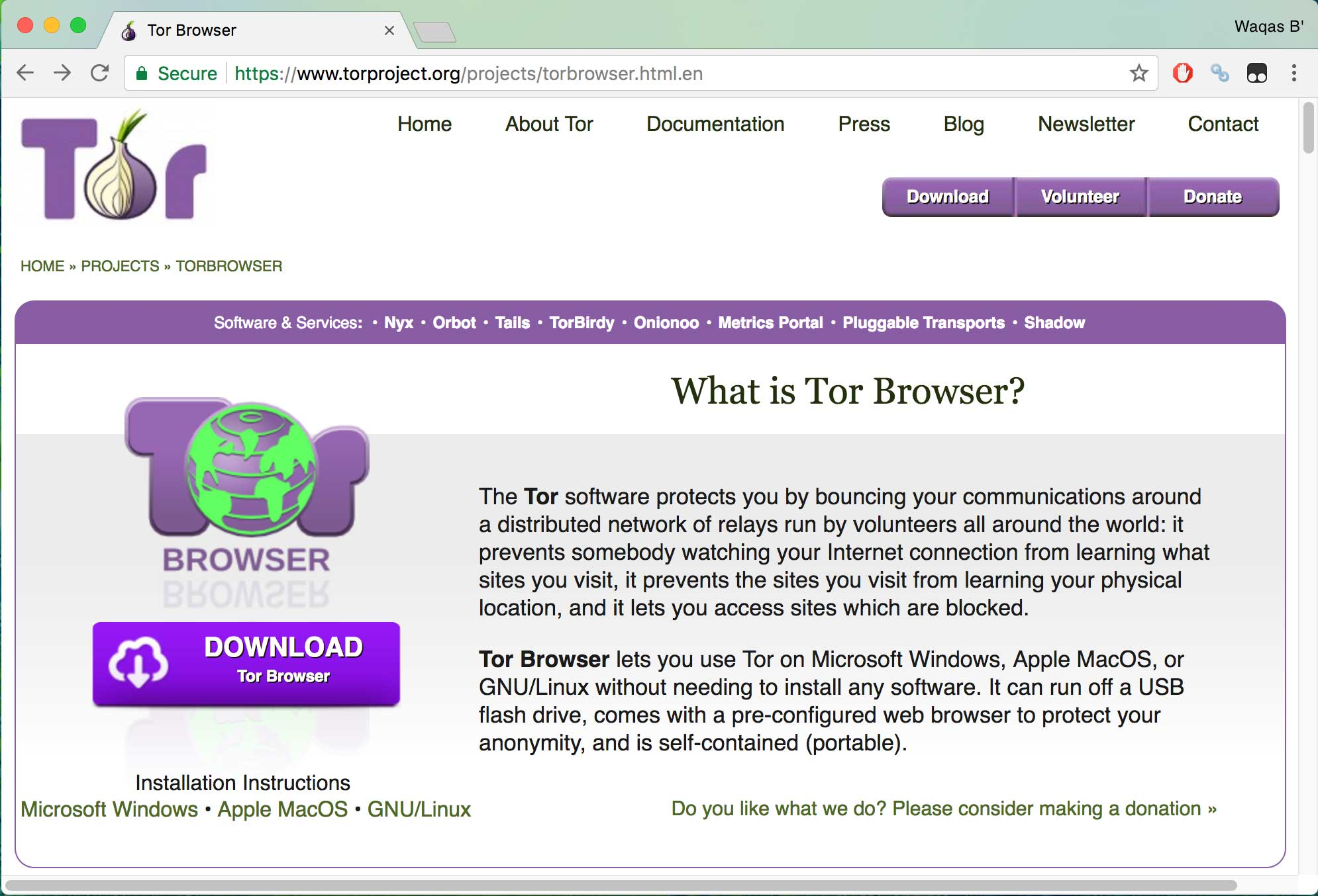 tor browser - best secure browsers
