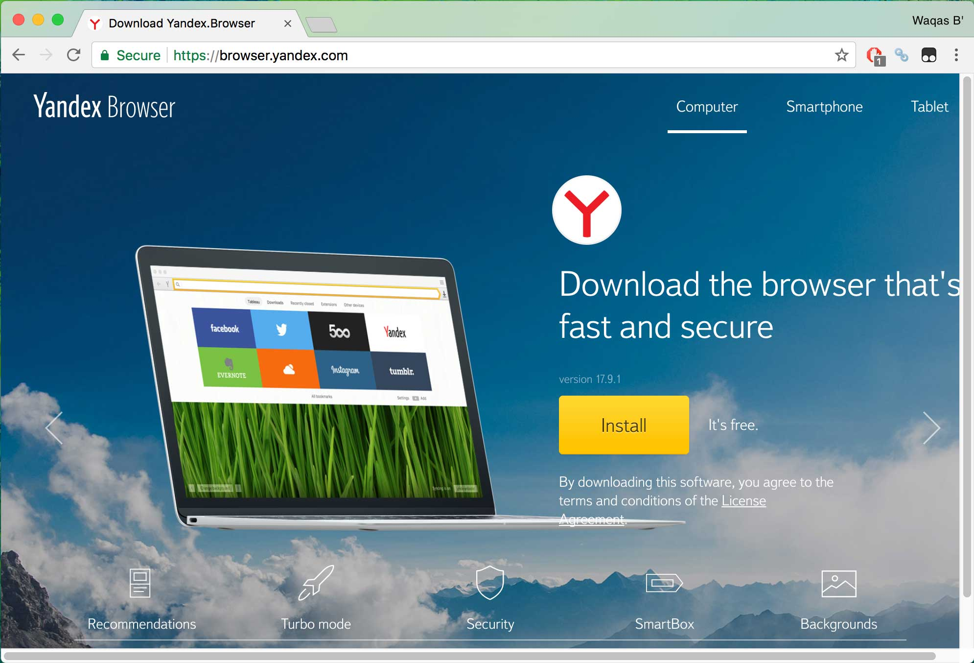 yandex browser - best secure browsers